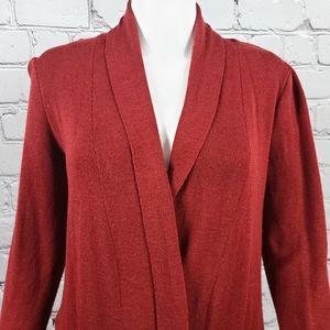 Orvis Red Merino Wool Cardigan, Medium